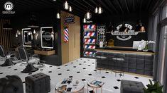 Modern Barber Shop, Best Barber Shop, Barber Shop Interior, Barber Shop Decor, Hair Salon Interior, Design Salon, Salon Interior Design, Barber Equipment, Barbershop Design