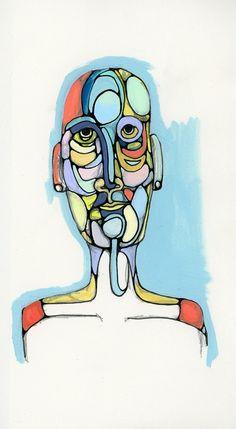 Self portrait - line and color