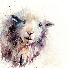 Hardwick sheep original watercolour painting