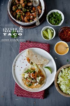Fava Beans & Shrimp Taco With Mustard Sriracha Aioli | Playful Cooking @Kankana | Playful Cooking