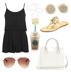 Girls Day Out by kaylaherring97 on Polyvore featuring polyvore, fashion, style, Topshop, Tory Burch, Victoria Beckham, Jennifer Zeuner and Forever 21