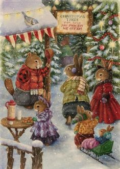 We are professional Susan Wheeler supplier and manufacturer in China.We can produce Susan Wheeler according to your requirements.More types of Susan Wheeler wanted,please contact us right now! Christmas Tree Farm, Christmas Scenes, Noel Christmas, Vintage Christmas Cards, Christmas Pictures, Vintage Cards, Winter Christmas, Whimsical Christmas, Xmas Tree