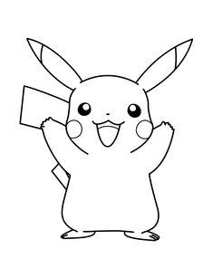 ▷ Dibujos Pikachu para dibujar, imprimir, colorear y recortar fácilmente