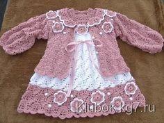 Crochet dress| How to crochet an easy shell stitch baby / girl's dress for beginners 23 - YouTube