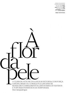 Vogue Brasil pg layout/typography