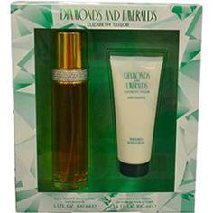 Diamonds & emeralds edt spray 3.3 oz & body lotion 3.3 oz by elizabeth taylor $18.95