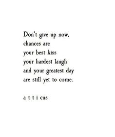 I won't give up on you