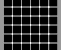 Optical Illusion - Mysterious Black Dots