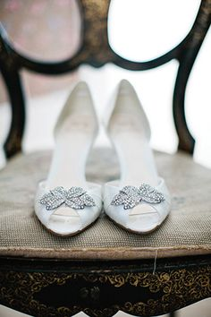bridal shoes   Will and Mary-Kate's Chic Summer Wedding by Therese Aherne   www.onefabday.com