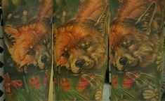 #realistictattoo #colortattoo #татуировкавкраснодаре #фотореализм #тату #animalism #анимализм #fox