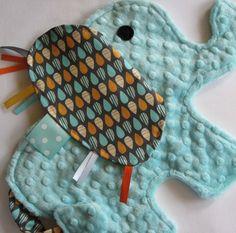 Splash Aqua Elephant Baby Security Blanket by IcingOnTheCupcake
