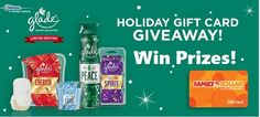 It's back for 2015! Enter the GLADE Family Dollar Holiday Gift Card Giveaway for the chance to win one of the 5 prizes awarded daily, a $10 Family Dollar gift card. You will also be …