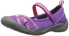 M.A.P. Lillith3 Girls Sport Mary Jane (Little Kid/Big Kid/Toddler). Durable synthetic textile upper. Rugged yet feminine flower pedal-inspired outsole with toe and heel bumpers. Playful floral footbed for comfort and style. Adjustable hook and loop closure for perfect fit. Splash Friendly and quick drying.