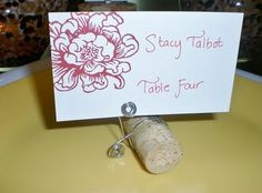 Wine Cork Place Card Holders  Set of 10 by LittleHouseofDetails, $15.00