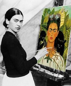 Today in Mighty Girl history, Mexican artist Frida Kahlo, a painter whose life history has taken almost as much prominence as her talent, was born in 1907. Widely known for her striking appearance, dramatic health issues, and tumultuous relationship with spouse and artist Diego Rivera, Frida Kahlo incorporated each of these subjects into her artwork.