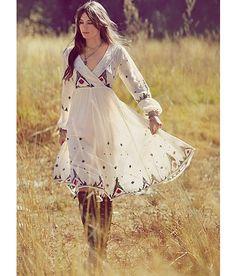 "Mongolian-inspired? ~trish ""The New Romantics: Sweet Spring Dresses""  #boho #bohemian #clothes #fashion"