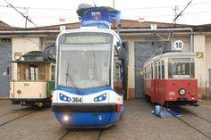 najstarsze i najnowszy bydgoski tramwaj