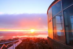 Sunrise at Mount Wellington