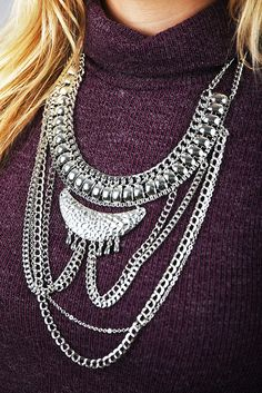 I Want You To Want Me Necklace: Silver #shophopes