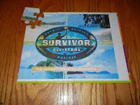 For Jenna's 11 birthday party, we hosted a Survivor Birthday party. Jenna made the invitations. We downloaded a survivor logo and she glued ...