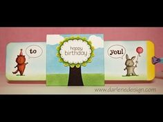 Double Slider Birthday Card! Clear instructions!