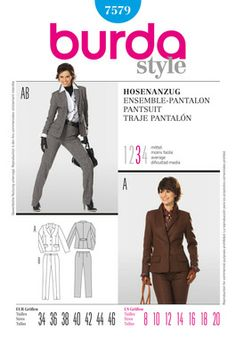Simplicity Creative Group - Burda Style 7579, Pantsuit-The Pants are a Match to The St. Johns Collection/Nordstom