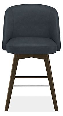 Cora Swivel Counter Stool in Leather - Modern Counter & Bar Stools - Modern Dining Room Furniture - Room & Board