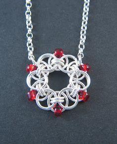 Sterling silver helm chain pendant - WhiteOakJewellery