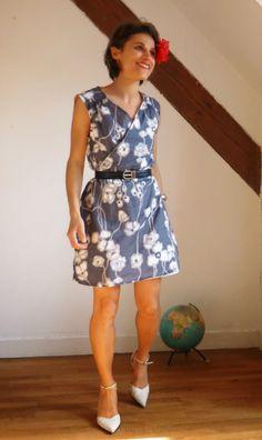 Lathelize: Vaporeuse - la robe portefeuille Airelle