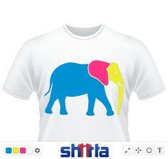 Ein bunter Elefant.