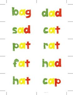 Traffic Light CVC Word Cards. Help students that confuse their beginning, middle, and ending sounds when decoding