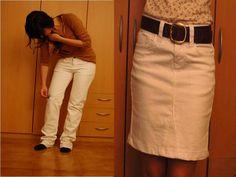 Como convertir un pantalón jean en una hermosa falda para el invierno1