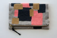 Bunch of Squares Foldover Clutch