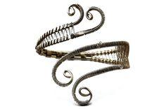 Boho Armband Wire Wrap Armlet Spiral Arm Cuff Roman от HyppieChic