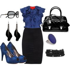 black and blue- did you know that if you wear black and blue you are more likely to look professional for an interview?