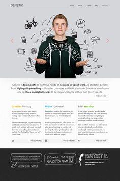 modern sketch style in webdesign! - Jonathan Ogden - Genetik #mockup #webdesign #trends