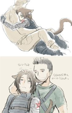 Rumlow and Bucky by tatsuri