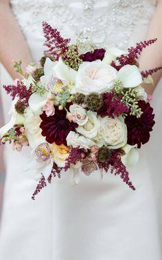 Znalezione obrazy dla zapytania букет невесты цвета марсала