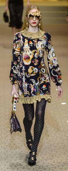 Dolce & Gabbana Fall-winter 2018-2019 - Ready-to-Wear - http://www.orientpalms.com/Dolce-Gabbana-7161 - ©ImaxTree