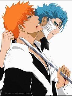 Ichigo and Grimmjow. Fight.