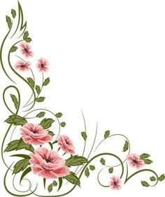 flowers, painting Illoustrator, PNG file: