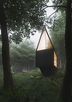 Cabin in the forest on Behance