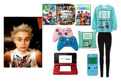 """""""Video Game Date Night With Mikey <3"""" by dork-clifford ❤ liked on Polyvore featuring Nintendo and Oasis"""