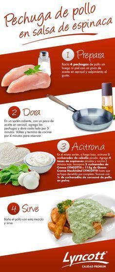 Pechuga de pollo en salsa de espinaca #RecetaFácil #Saludable #Pollo #Espinaca…