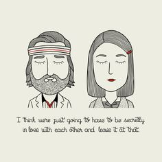 Our very fave Wes Anderson characters, illustrated