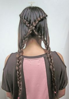 I definitely want to try this in my friend Donna's hair or if I get the Senegalese twist then I would try with those and make buns on the bottom of the neck!