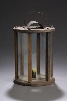 Round Wooden Barn Lantern, (2007 FallAmericana:Fine&DecorativeArts, Oct 12&13)