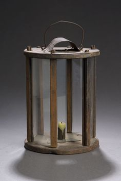 Round Wooden Barn Lantern, (2007 FallAmericana:Fine&DecorativeArts, Oct 12&13)