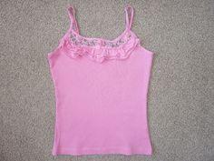 As New Girls Pink Sugar Singlet Top, Size 10