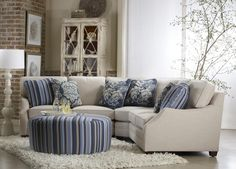 sofa sectional. this would be perfect for deaf conversations, just add a couple of comfortable chairs!